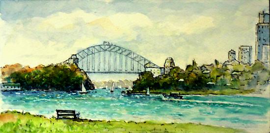 Sydney Harbour from Clarke Point, Woolwich by marshstudio