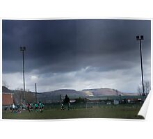 view from caerphilly rugby club Poster