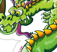Saint Patrick's Day Dragon Sticker