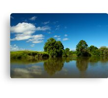 Rous River Reflections Canvas Print