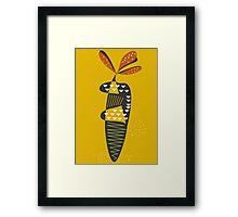 Mid century carrot Framed Print
