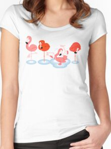 Flamingos Women's Fitted Scoop T-Shirt