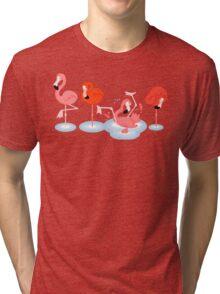 Flamingos Tri-blend T-Shirt