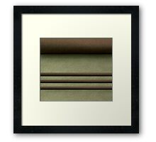 Abstract textile Framed Print