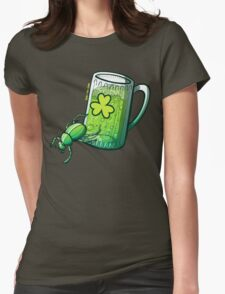 Saint Patrick's Day Beetle Womens Fitted T-Shirt