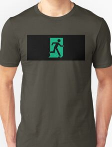 Running Man Exit Sign, Right Hand T-Shirt