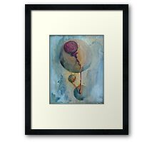 drops of id falling from my mind Framed Print