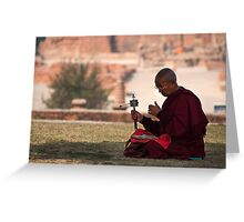 Monk of sarnath Greeting Card