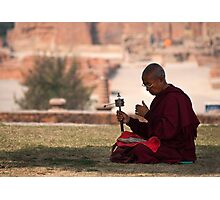 Monk of sarnath Photographic Print