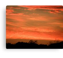 Red Sky At Night Shepherds Delight Canvas Print