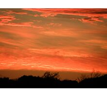 Red Sky At Night Shepherds Delight Photographic Print