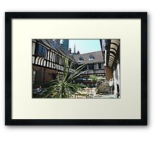 St Williams college courtyard Framed Print