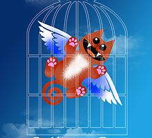 SET YOURSELF FREE! (card) by peter chebatte
