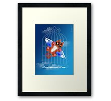 SET YOURSELF FREE! (card) Framed Print