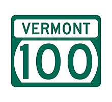 Route 100 Sign, Vermont, USA Photographic Print