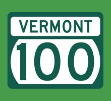 Route 100 Sign, Vermont, USA Kids Tee