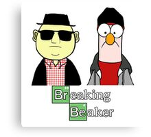 Breaking Beaker and Bunsen Canvas Print