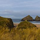 Cornish Seascape of Holywell Bay by Brian Roscorla