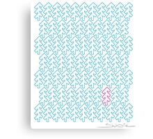 Shubie Highlight Cyan & Magenta Forest Canvas Print