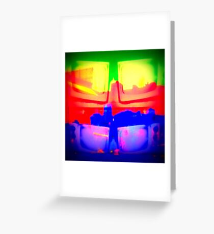 what's on your tv? Greeting Card