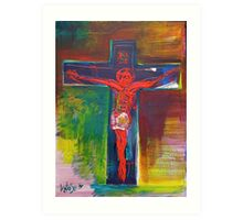 Cosmic Christ In Red 2009 Art Print