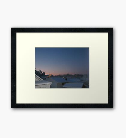 Feb. 19 2012 Snowstorm 69 Framed Print