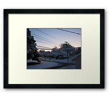 Feb. 19 2012 Snowstorm 71 Framed Print