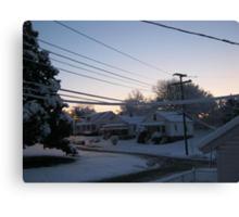 Feb. 19 2012 Snowstorm 71 Canvas Print