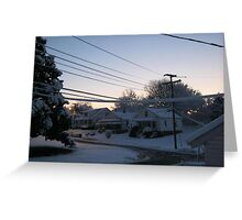 Feb. 19 2012 Snowstorm 71 Greeting Card