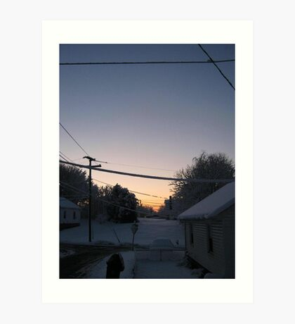 Feb. 19 2012 Snowstorm 72 Art Print