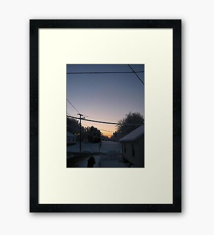 Feb. 19 2012 Snowstorm 72 Framed Print