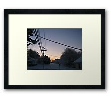Feb. 19 2012 Snowstorm 73 Framed Print