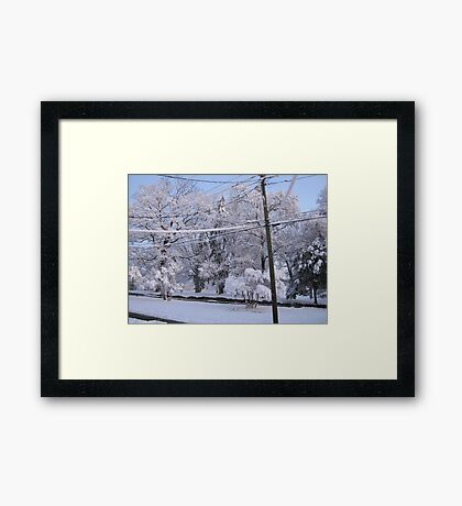 Feb. 19 2012 Snowstorm 85 Framed Print
