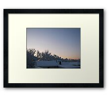 Feb. 19 2012 Snowstorm 88 Framed Print