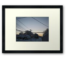 Feb. 19 2012 Snowstorm 97 Framed Print