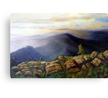 Dawn creeps over the mountains Canvas Print