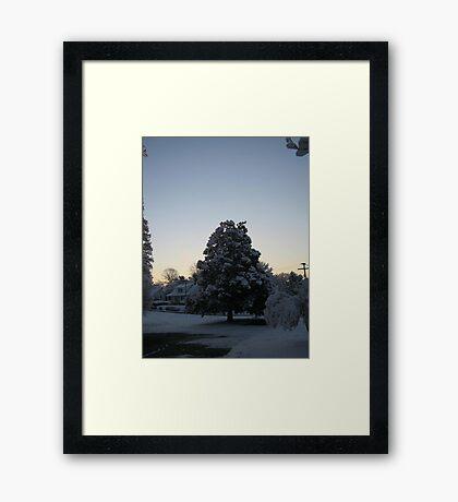 Feb. 19 2012 Snowstorm 103 Framed Print