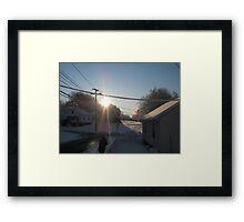 Feb. 19 2012 Snowstorm 107 Framed Print