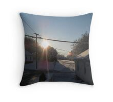 Feb. 19 2012 Snowstorm 107 Throw Pillow