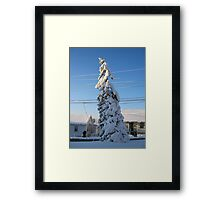 Feb. 19 2012 Snowstorm 109 Framed Print