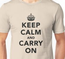 Keep Calm and Carry On - Light Unisex T-Shirt