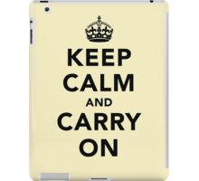 Keep Calm and Carry On - Light iPad Case/Skin