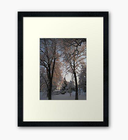 Feb. 19 2012 Snowstorm 135 Framed Print