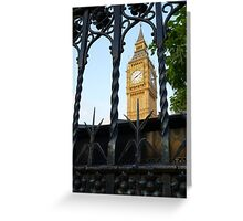 Big Ben through railings  Greeting Card