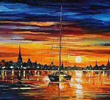 CALM SUNSET - LEONID AFREMOV by Leonid  Afremov