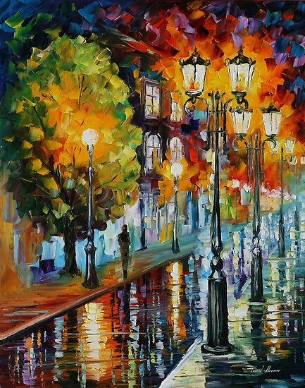 AFTER A NIGHT RAIN - LEONID AFREMOV by Leonid  Afremov