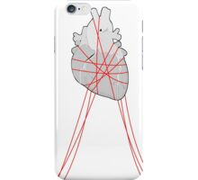 Red strings (Middle) iPhone Case/Skin