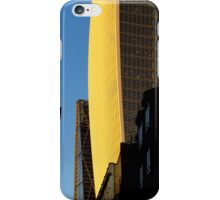 Narrow street and skyscrapers iPhone Case/Skin