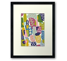 Colourful shapes  Framed Print