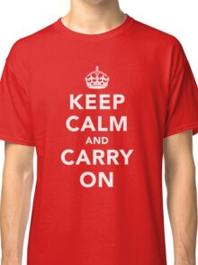 Keep Calm and Carry On - Dark Classic T-Shirt